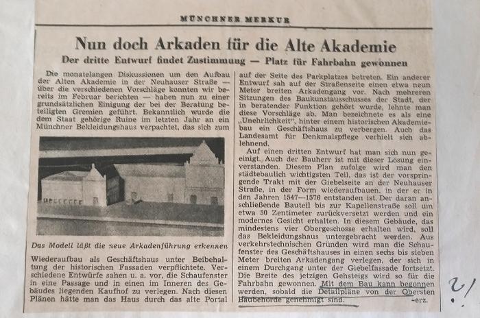 MM Alte Akademie 28.9.1951