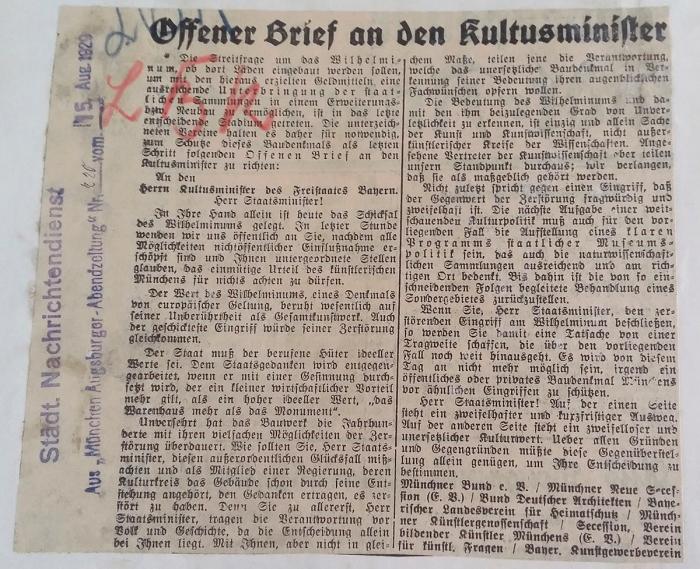 Offener Brief_Alte Akademie_1929